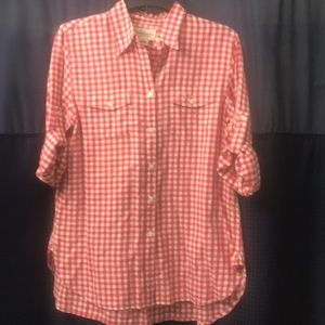 Denim & Supply Red Check Button Shirt